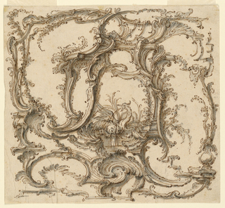 Drawing, Ornament Composition