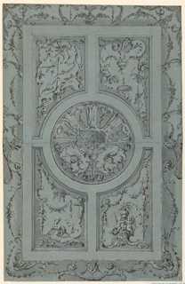 Drawing, Design for a ceiling