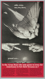 Poster, Odds, Evens, One, Two, Three, ground zero..., 1982