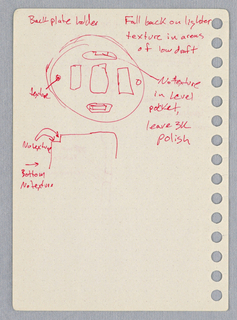 Drawing, Preparatory Drawing for Thermostat