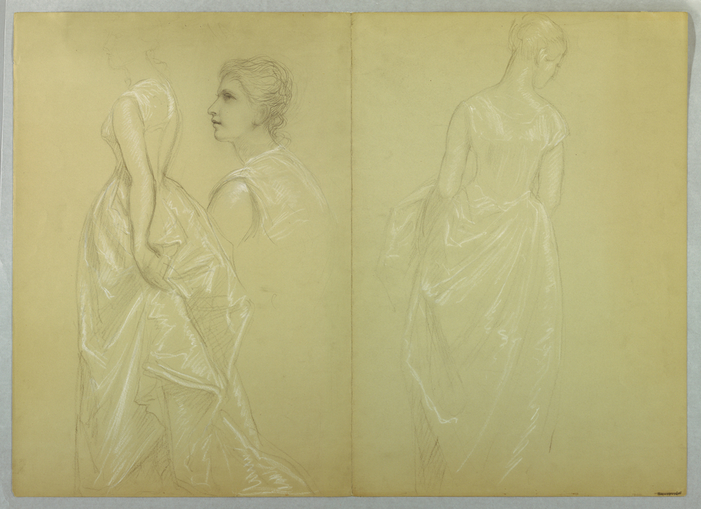 """Drawing, Study for """"Mrs. Washingto, 1878–86 and 1860"""