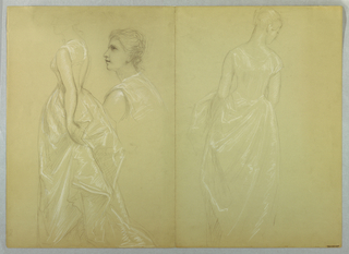"Drawing, Study for ""Mrs. Washingto, 1878–86 and 1860"