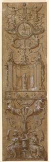 Drawing, Arabesque Panel