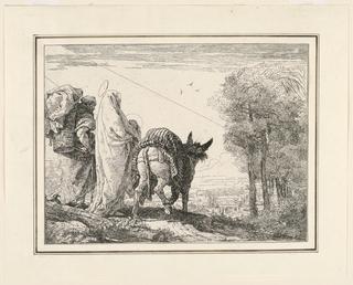 Print, The Flight into Egypt