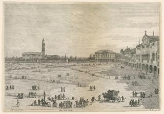 Print, Prà della Valle (Prato della Valle, Padua), from the Vedute altre prese da i luoghi altre ideate, ca. 1752-55