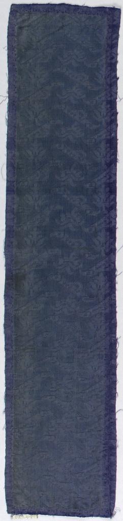Diagonal arrangement of flowering logs in deep bluish purple.