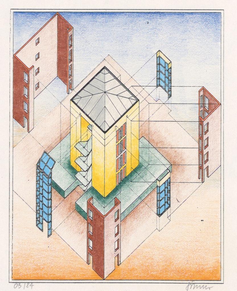 Drawing, L tzowstrasse 64, Berlin,, 1984