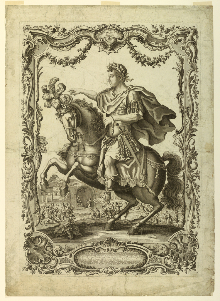 Print, The Roman Emperor Caligula (37-41)