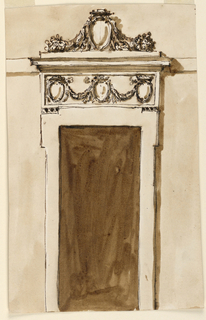 Drawing, Doorcase for a poor house