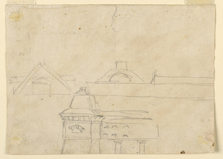 Drawing, Pyramidal monument and pavilion