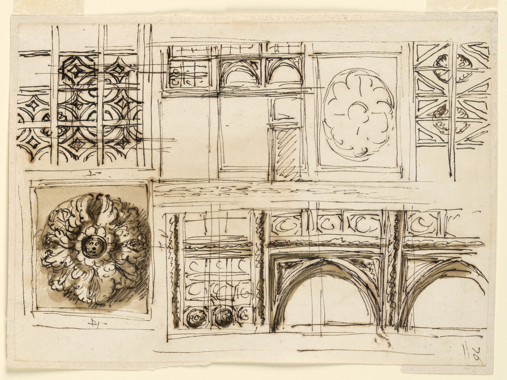 Drawing, Design for ceiling decoration