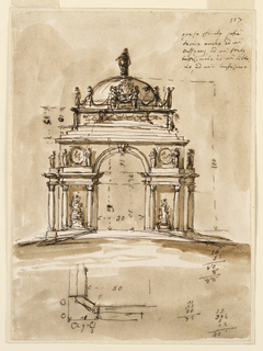 Drawing, Design for an architectural structure
