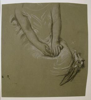 Drawing, Study of female model