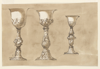 Drawing, Three chalices