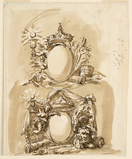Drawing, Escutcheons