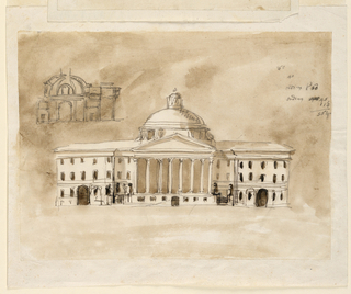 Drawing, Elevation for a public building