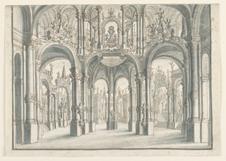 Drawing, Stage Design, Open Palace Court