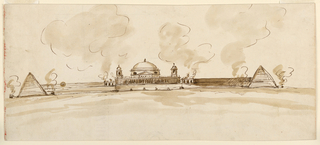 Drawing, Mausoleum