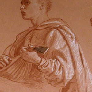 """Drawing, Study for """"A Florentine Picnic"""""""
