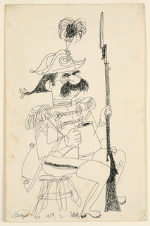 Drawing, Soldier, 1959