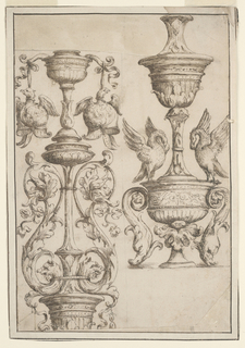 Drawing, Two Candlesticks, 1625–50