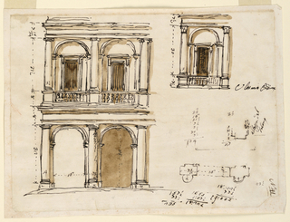 Drawing, Facade of a town house