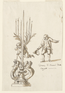 Drawing, Candlestick; portrait
