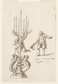Drawing, Candlestick; portrait