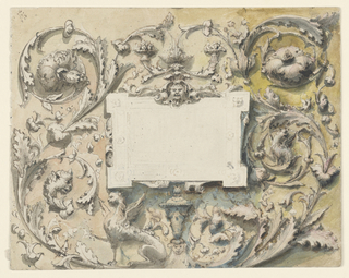 Drawing, Project for a Painted Panel, 1875