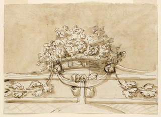 Drawing, Crest of a chair