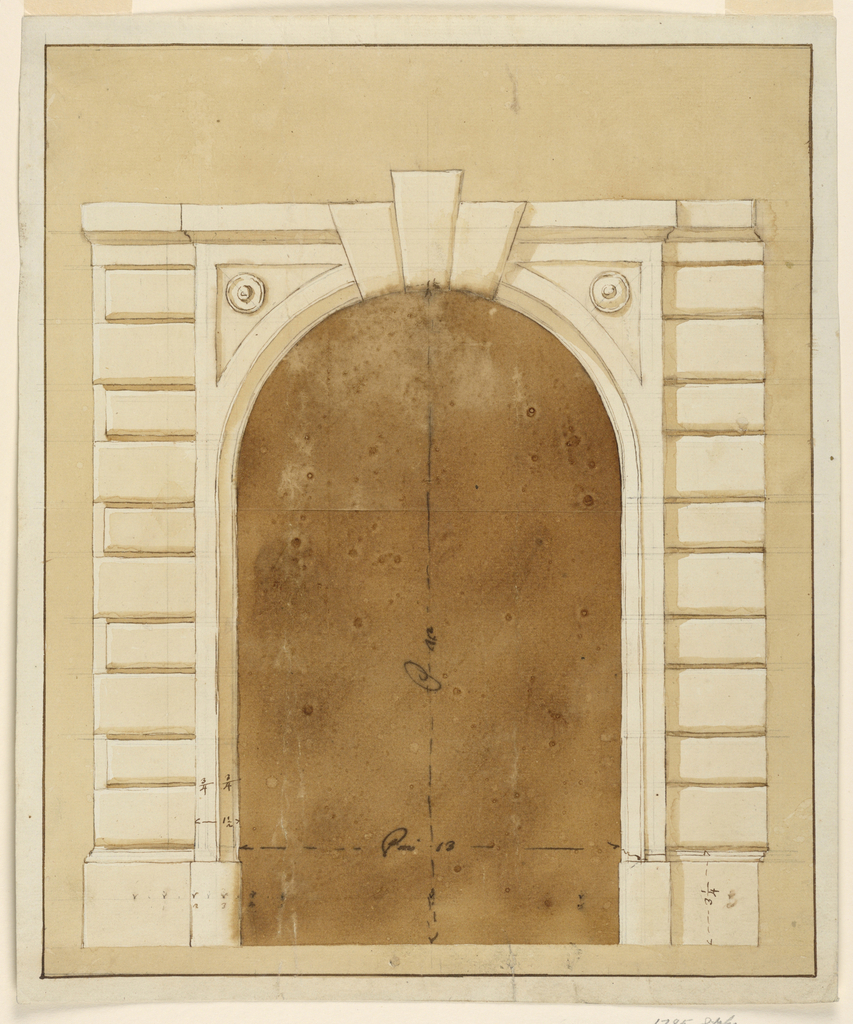 Drawing, Doorway with alternative suggestions
