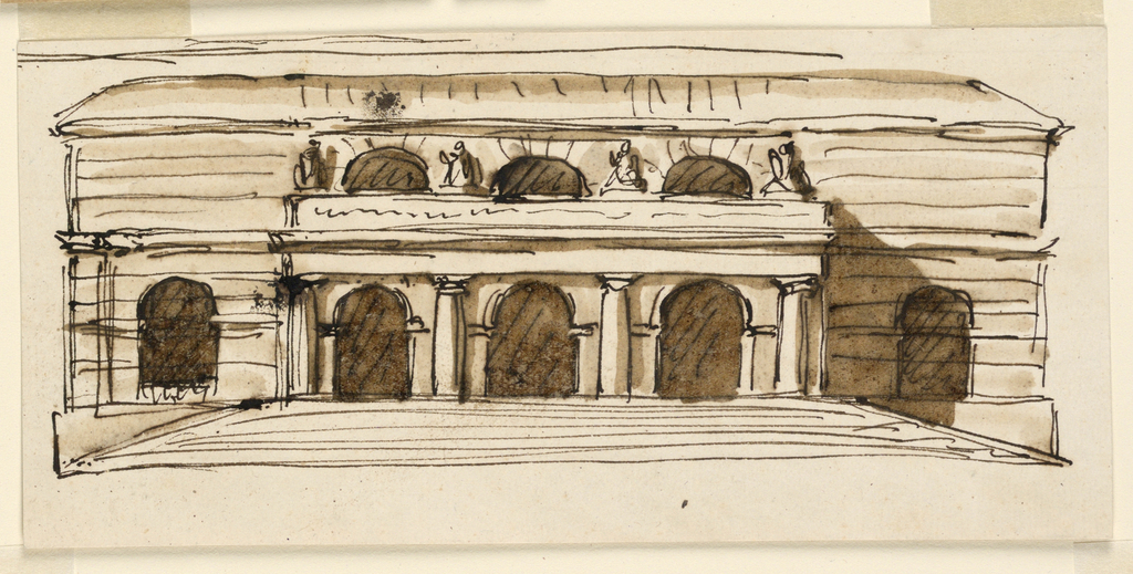 Drawing, Elevation of a building