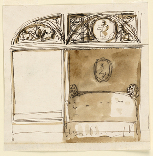 Drawing, Bedroom alcove