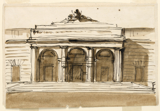 Drawing, Elevation of a gateway