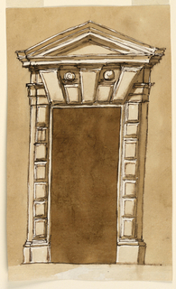Drawing, Elevation of a doorframe