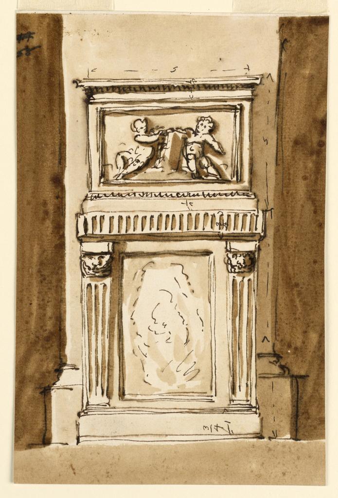 Drawing, Pedestal and base of a pillar