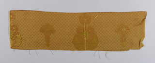 a. rust color warp and gold color weft b. rust color warp and gold color weft c. rust color warp and blue weft