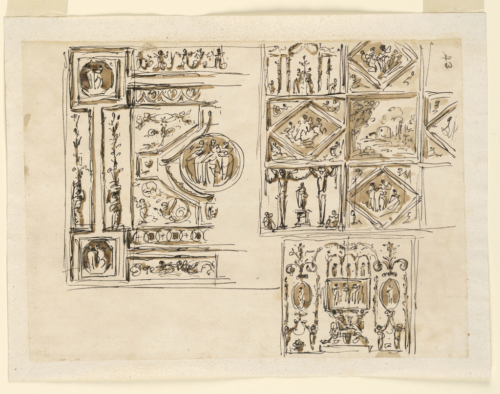 Drawing, Decoration for a ceiling