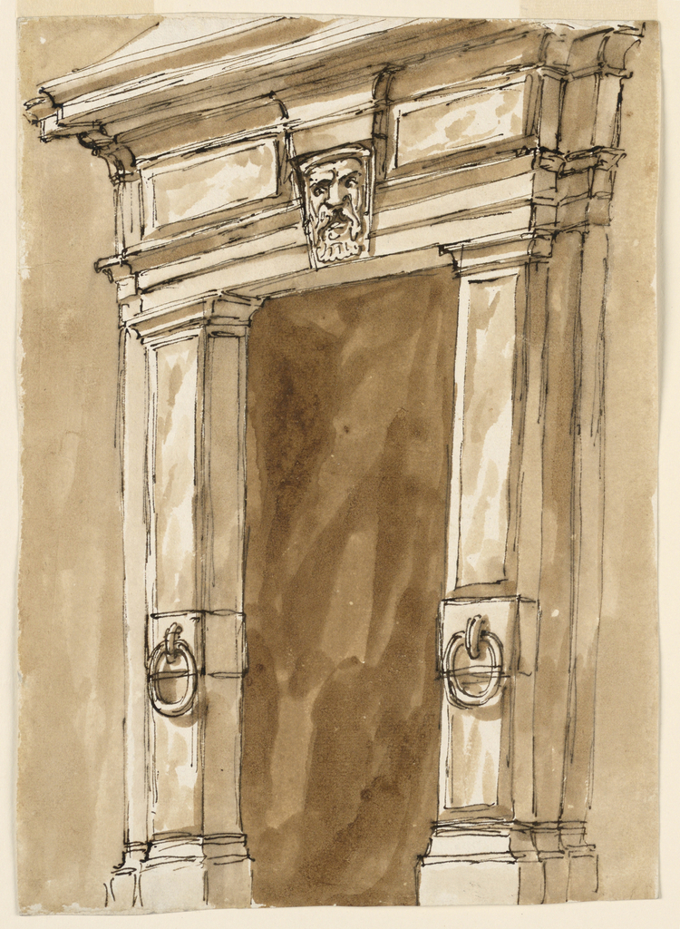 Drawing, Doorframe