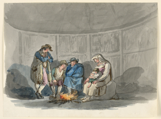 Drawing, A Family of Shepherds at Night