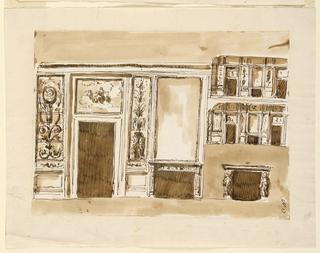 Drawing, Wall elevation