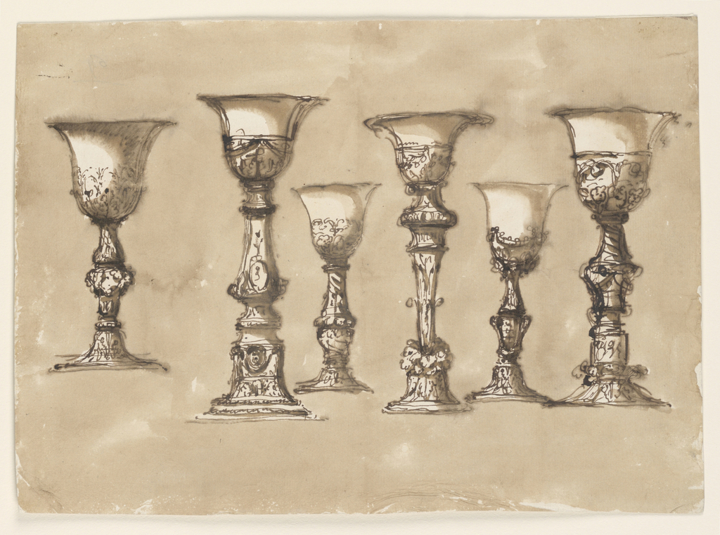 Drawing, Six chalices