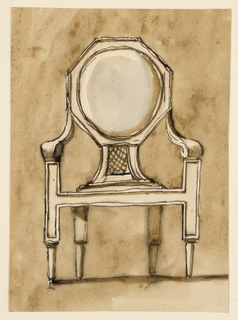 Drawing, Chair