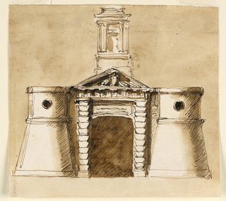 Drawing, Gate of a town