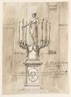 Drawing, Candelstick