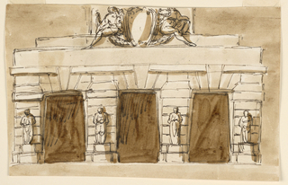 Drawing, Entrance to a prison