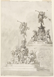 Drawing, Cover of an inkstand