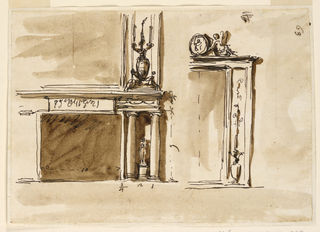 Drawing, Mantelpiece
