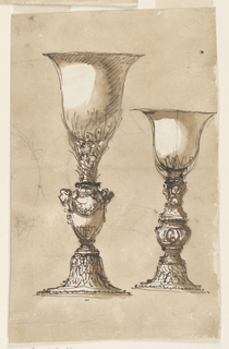 Drawing, Two chalices