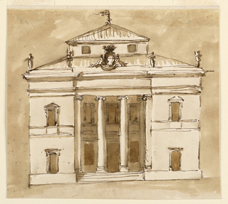 Drawing, Elevation of a casino